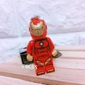 [正版]LEGO 樂高鑰匙圈 漫威英雄 復仇者聯盟 鋼鐵人人偶鑰匙圈 鎖圈 吊飾 COCOS FG280