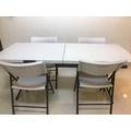 COSTCO 6呎折疊桌 + 椅子Lifetime