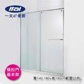 一太-橫拉門基本款 一字兩門落地型淋浴門 寬140~180cm x 高190cm內