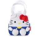 【真愛日本】17053100041 立體造型拉鍊提袋-KT白 三麗鷗 kitty 凱蒂貓 便當袋 餐袋 手提包包