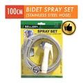 Sellery White Bidet Spray Set (100CM Stainless Steel Hose)