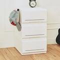 【nicegoods 好東西】邦妮組合式單層抽屜收納箱(單層18L)-3入組-白色
