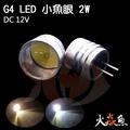 火焱魚 LED 小魚眼 2W DC12V G4 豆泡 豆燈 白色 暖白 造型燈 吊燈 水晶燈專用 燈泡