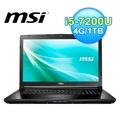 msi 微星 CX72 7QL-020TW 電競筆電