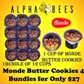 Monde Butter Cookies Bundle of 4 (28g per cup)