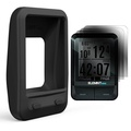TUSITA Silicone Skin Case with Screen Protector for Wahoo Elemnt Mini GPS Bike Computer Cover , Black