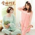 💜娜娜哺乳內衣💜加大尺碼 M ~ 3XL 孕婦裝 長版睡衣月子服長袖套裝+孕婦長褲 哺乳衣 大尺碼 H801