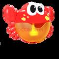 吐泡泡的螃蟹 螃蟹泡泡机洗澡沐浴玩具螃蟹吐泡泡螃蟹玩具宝宝洗澡玩具 大号泡泡蟹彩盒装+送螺丝刀+电池