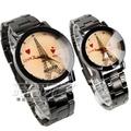 KEVIN 簡單羅馬時刻 鐵塔時尚腕錶 IP黑 立體多角切割鏡面 情侶對錶 漸層 KV20鐵塔心大+KV20鐵塔心小