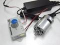 速度控制器 + 5 安培功率電源與高功率直流電機 12V-4.9 公斤/釐米-18800 轉/分。 denshi