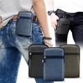 Aisure For 三星 Note9/Note8/Note5 時尚前端雙層拉鍊帆布腰包