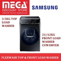 SAMSUNG WR24M9940KV/SP 3.5KG TOP LOAD + 21/12KG WASHER CUM DRYER / FREE GIFT BY AGENT