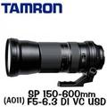 【Tamron】SP 150-600mm F/5-6.3 Di USD (A011) (公司貨三年保固)