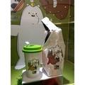 【A.K】熊熊站上體重計(現貨)熊熊吃飽餐具組(現貨)熊熊帶走杯袋組(現貨)夢時代 來店禮 時代百貨