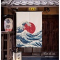 【C'est la vie】 富士山日出 日式和風布藝 原創風格門簾 日本料理