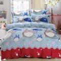 [滿額免運]冬季首選 100%法蘭絨 雙人、特大兩用被毯床包組/兩用被毯鋪棉床包組【甜蜜龍貓】《艾拉寢飾》