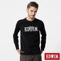 EDWIN 機車引擎LOGO長袖T恤-男-黑色