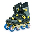 【D.L.D多輪多】鋁合金底座 專業競速直排輪 溜冰鞋 鐵灰銀 FS-1