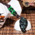 【財神小舖】事業有成-彩虹眼黑曜石貔貅項鍊(連環-綠)《含開光》神獸轉運、提升財運