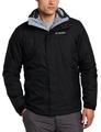 美國百分百【全新真品】Columbia 外套 夾克 連帽 哥倫比亞 登山 滑雪 黑色 兩件式 防水 男 S號 E517
