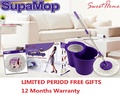 SupaMop 360 Degree Spin Manual Press Dehydrate System Cleaning Mop
