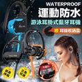 【SOYES】運動防水耳掛式MP3播放內建8G藍牙耳機BT7(附收納硬殼)橘色 橘色