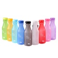 Candy Colors Unbreakable Frosted Leak-proof Plastic kettle 550mL BPA Free Portable Water Bottle for Travel Yoga Running Camping