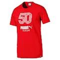 PUMA-男性流行系列SUEDE 50紀念短袖T恤-火紅-歐規
