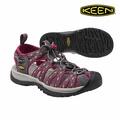 《台南悠活運動家》KEEN 1014204 女護趾涼鞋 紫紅 印花