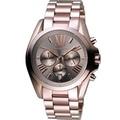 Michael Kors 可可羅馬三眼計時腕錶 MK6247 古銅色