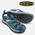 【Keen 美國】WHISPER 越野護趾涼鞋 運動涼鞋 休閒涼鞋 女款 深藍/印花/1014206