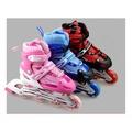 (按鈕式可調整尺寸兒童直排輪-溜冰鞋+ 護具6件組 + 一般運動安全帽)全套