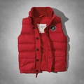 Abercrombie&Fitch A&F Boreas Mountain Vest 男 徽章保暖 羽絨背心 現貨S號
