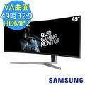 【SAMSUNG 三星】C49HG90DME 49型 32:9 VA曲面量子點電競螢幕