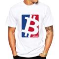 Bitcoin Machine BTC casual blue red logo design T-Shirt