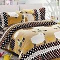 【韋恩寢具】搖粒絨被套床包組-雙人/綿綿細雨