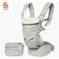 【加贈同品牌今治口水巾1入】美國【ErgoBaby】Omni全階段型四式360嬰兒揹帶(灰色)