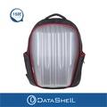 【Datashell】個性直紋硬殼後背包(銀色輕量型)