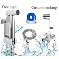 Handheld Cloth Diaper Sprayer Toilet Attachment Kit Stainless Steel Bidet Spray - intl