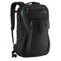 The North Face ROUTER 35公升17吋電腦包/背包/登山包/學生包-黑色-螢光綠特別版