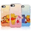Disney 迪士尼 小熊維尼 珠光 雙層防摔 手機殼│iPhone 5S SE 6 6S 7 8 Plus│z7733
