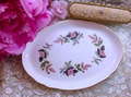 ♥安妮瘋古物♥ 英國骨瓷皇家御用Wedgwood 1970年海瑟薇粉紅玫瑰蛋糕盤 點心盤~ 庫存新品