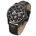 Arbutus Men's Black Leather Strap Watch Arbutus AR702BBB