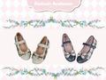 【金安德森】女童  經典格紋娃娃鞋 (經典黑)