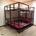 雙層床雙人床架組 5尺【空間特工】 30mm鐵管  設計款床架 輕量化骨架 上下舖 床組 床底 D3E609