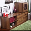 [Seller Installation] High Quality/Fashion Design storage cabinet/ TV console (Two color options and total 2 different type of combo)(Coffee)  (Chestnut)