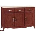 【台北家福】(FB304-2)葛蘭傑樟木色實木4尺碗盤櫃/電器櫃家具