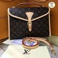 Louis Vuitton กระเป๋าสะพายหลุยส์ผู้หญิง  Hiend 1.1 size 25 cm full set กระเป๋าเกรดไฮเอ็น ดูดีมีฐานะ หนังแท้