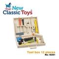 【New Classic Toys】天才小木匠工具箱玩具12件組(18281)