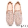 DIANA 絕美魅力-奢華水鑽微尖極修飾輕量休閒鞋-粉 9378-36